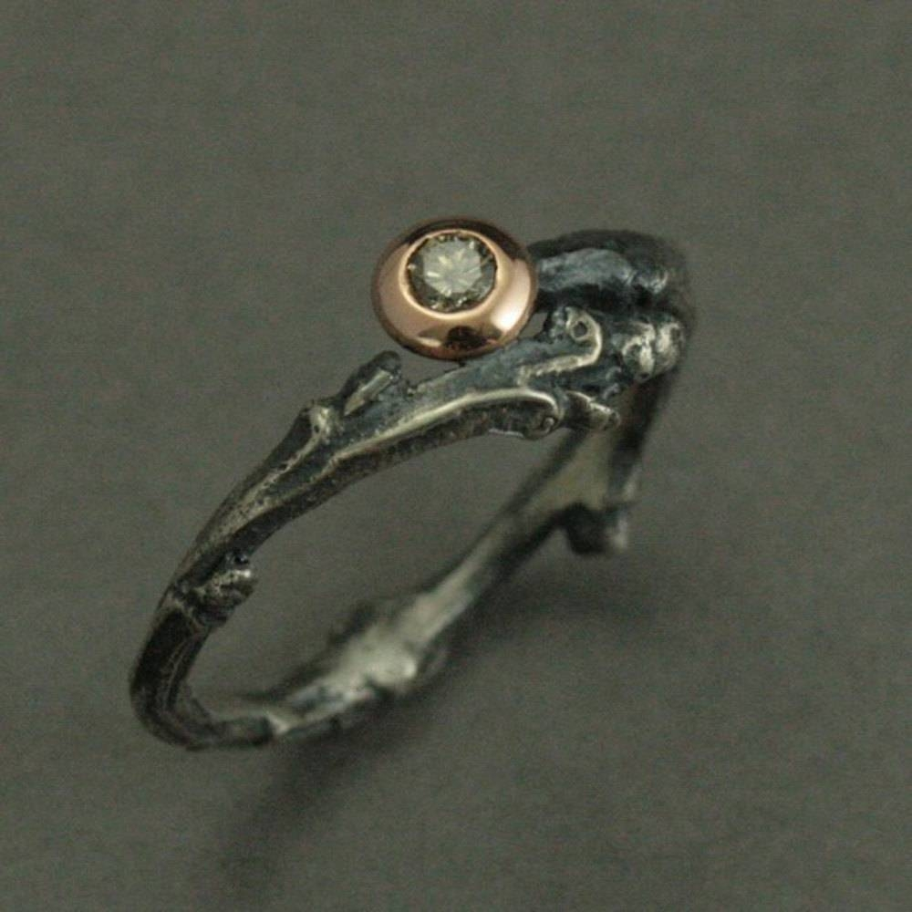 Heart Of The Forest Engagement Ring Sterling Silver Rose Inside Elvish Style Engagement Rings (View 9 of 15)