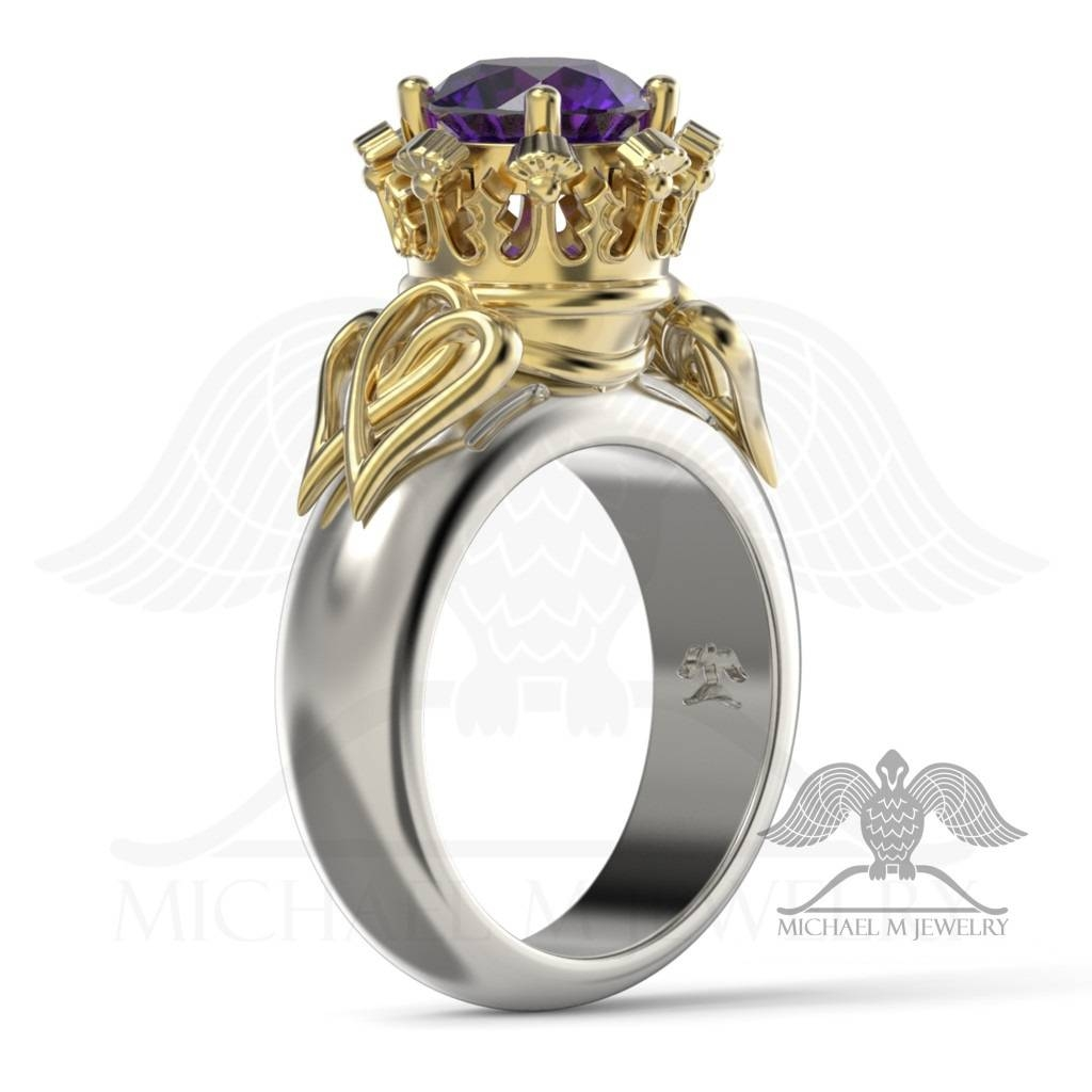 Hearts Luckenbooth Thistle Scottish Round Engagement Flower Leaf Within Scottish Engagement Rings (Gallery 14 of 15)