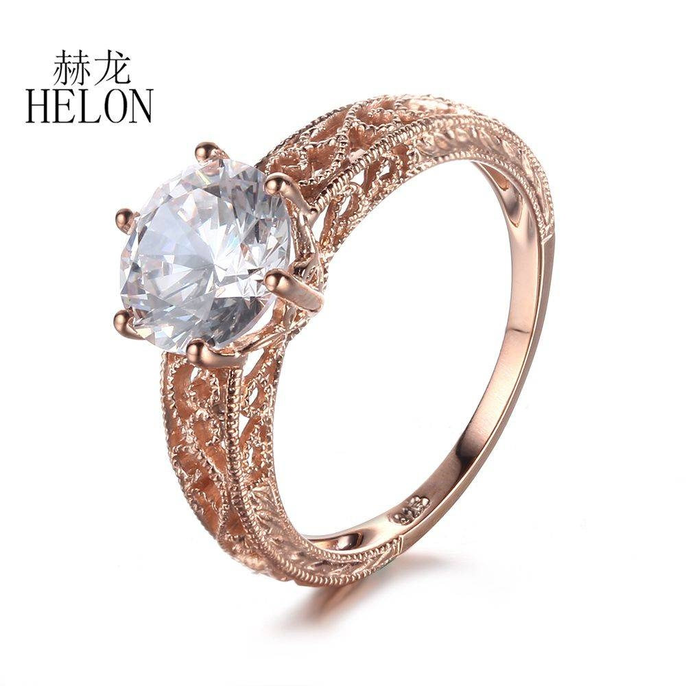 High Quality 10K Gold Cubic Zirconia Rings Promotion Shop For High In 10K Gold Cubic Zirconia Engagement Rings (View 8 of 15)