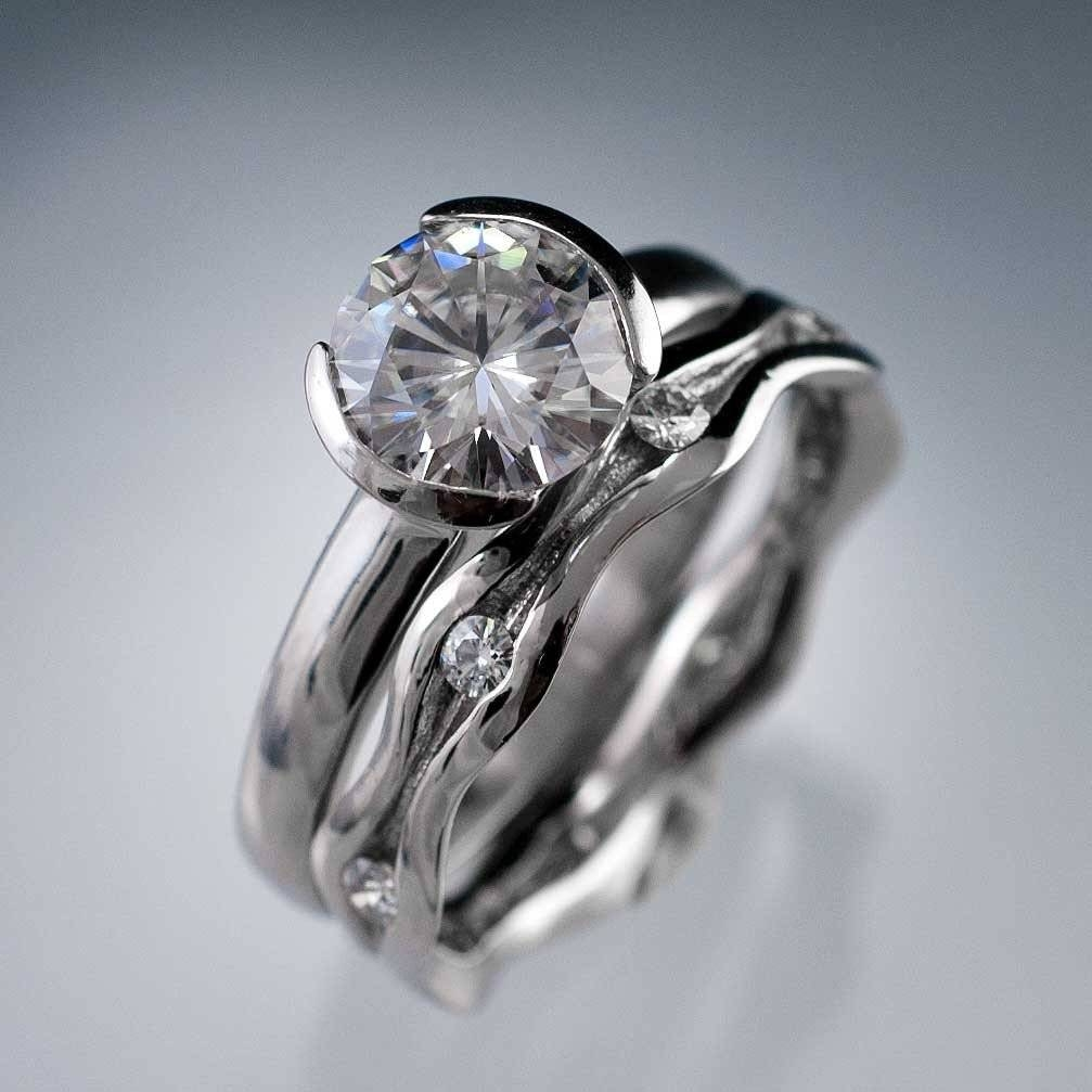 High Quality Cz Engagement Rings – Jewelry Exhibition Throughout Bezel Wedding Rings (Gallery 10 of 15)