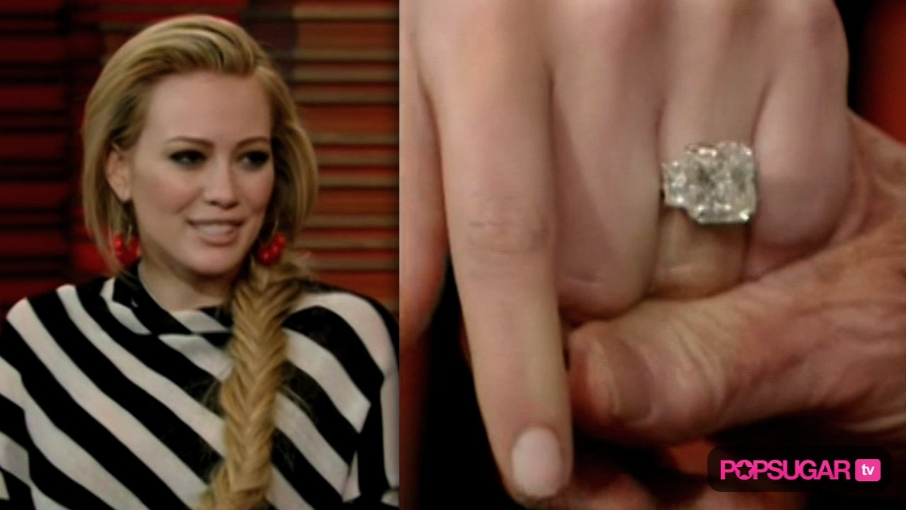 Hilary Duff Engagement Ring And Wedding | Popsugar Celebrity Throughout Hilary Duff Wedding Rings (View 9 of 15)