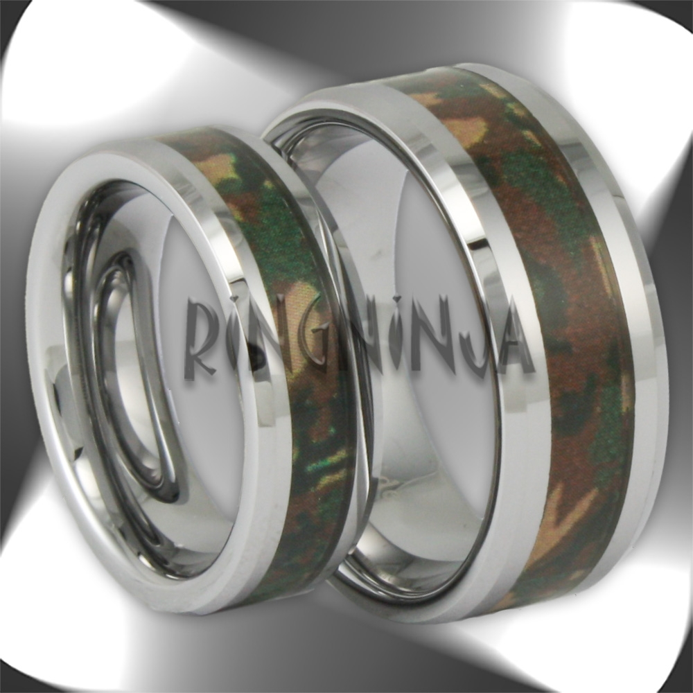 His And Her Tungsten Wedding Ring Sets – Ring Ninja For His And Hers Camo Wedding Bands (View 6 of 15)