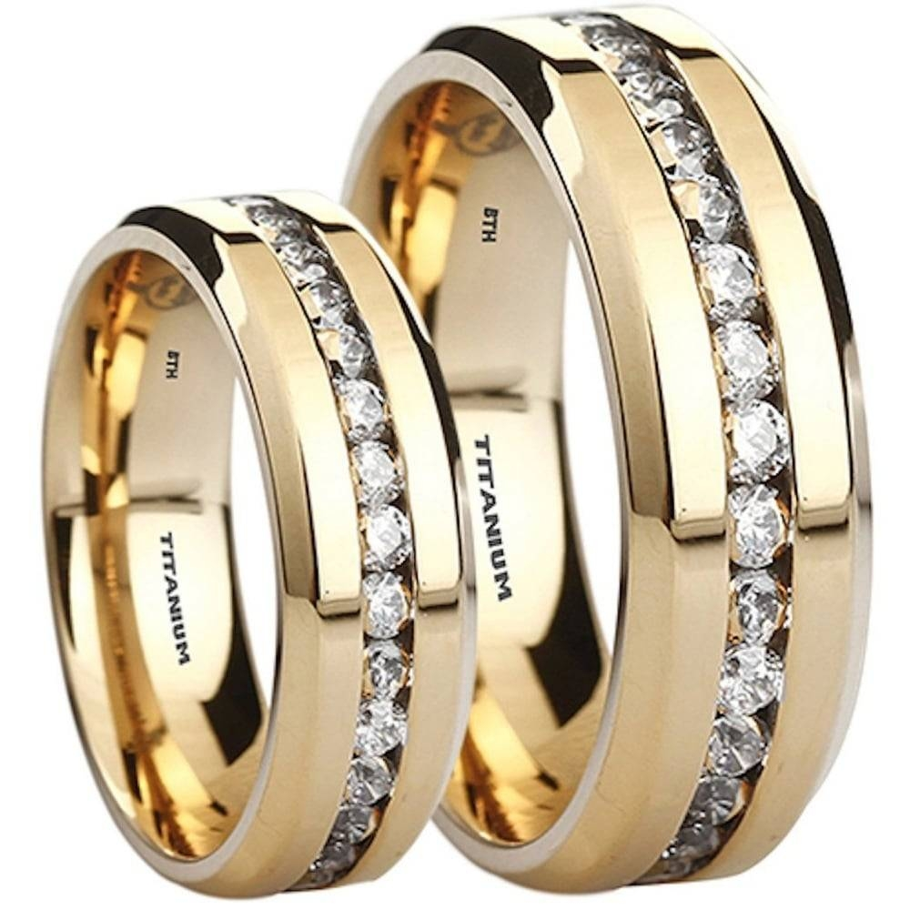 His And Hers Matching Tungsten Carbide Wedding Engagement Ring Set Inside Couple Rings For Engagement (Gallery 5 of 15)