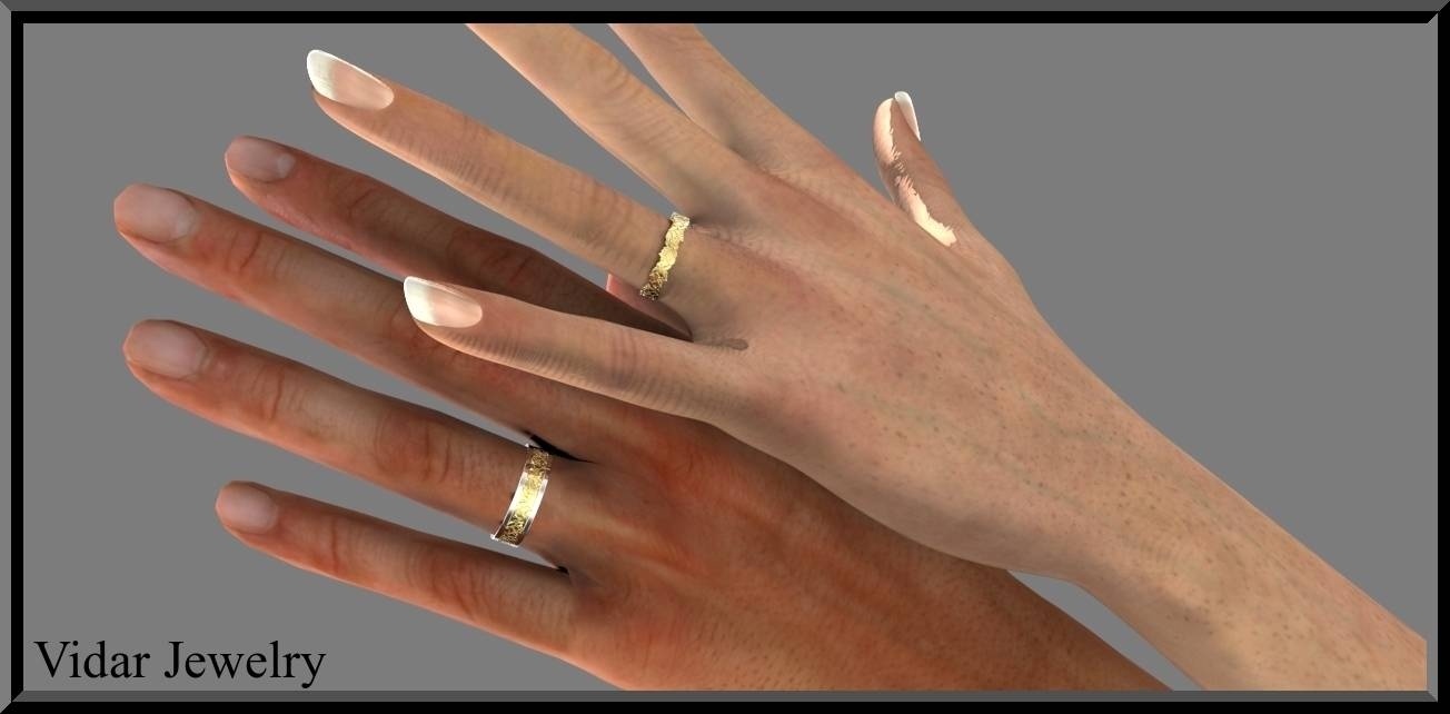 His And Hers Matching Wedding Band Set | Vidar Jewelry – Unique Pertaining To His And Her Wedding Bands Sets (Gallery 43 of 339)