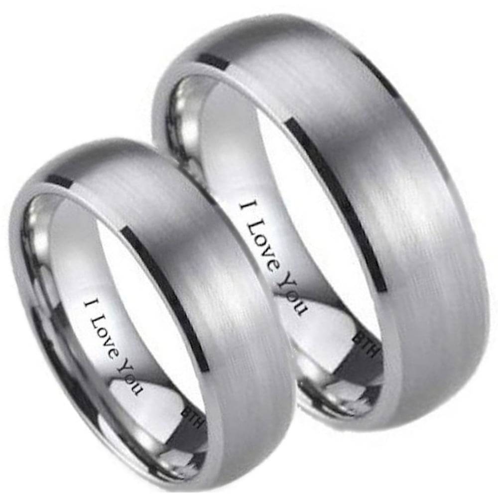 His And Hers Wedding Ring Intended For Titanium Wedding Bands Sets His Hers (View 4 of 15)