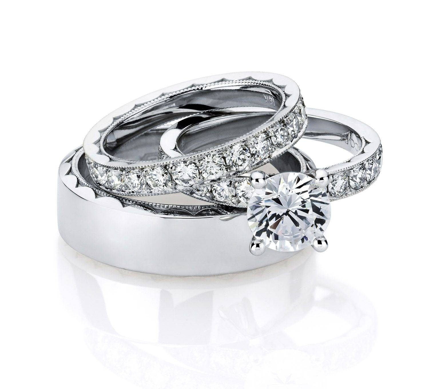 His And Hers Wedding Ring Sets Enchanting His And Hers Wedding With Diamond Wedding Bands Sets His And Hers (Gallery 8 of 15)