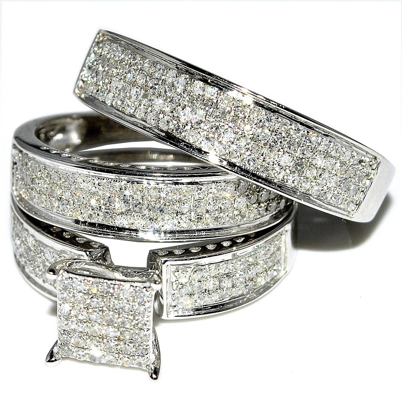 His And Hers Wedding Ring Sets Enchanting His And Hers Wedding With Diamond Wedding Bands Sets His And Hers (View 3 of 15)