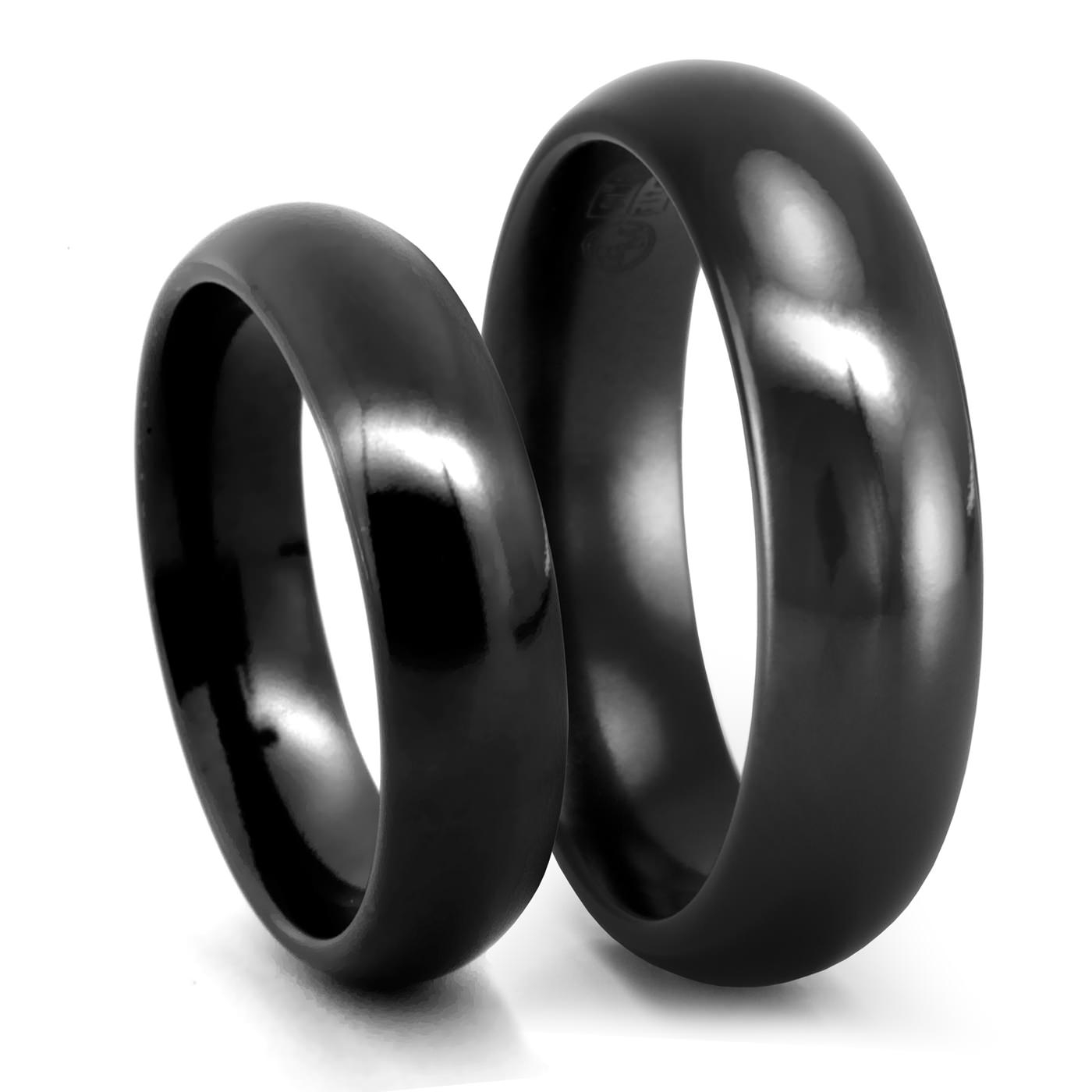Featured Photo of Black Titanium Wedding Bands Sets