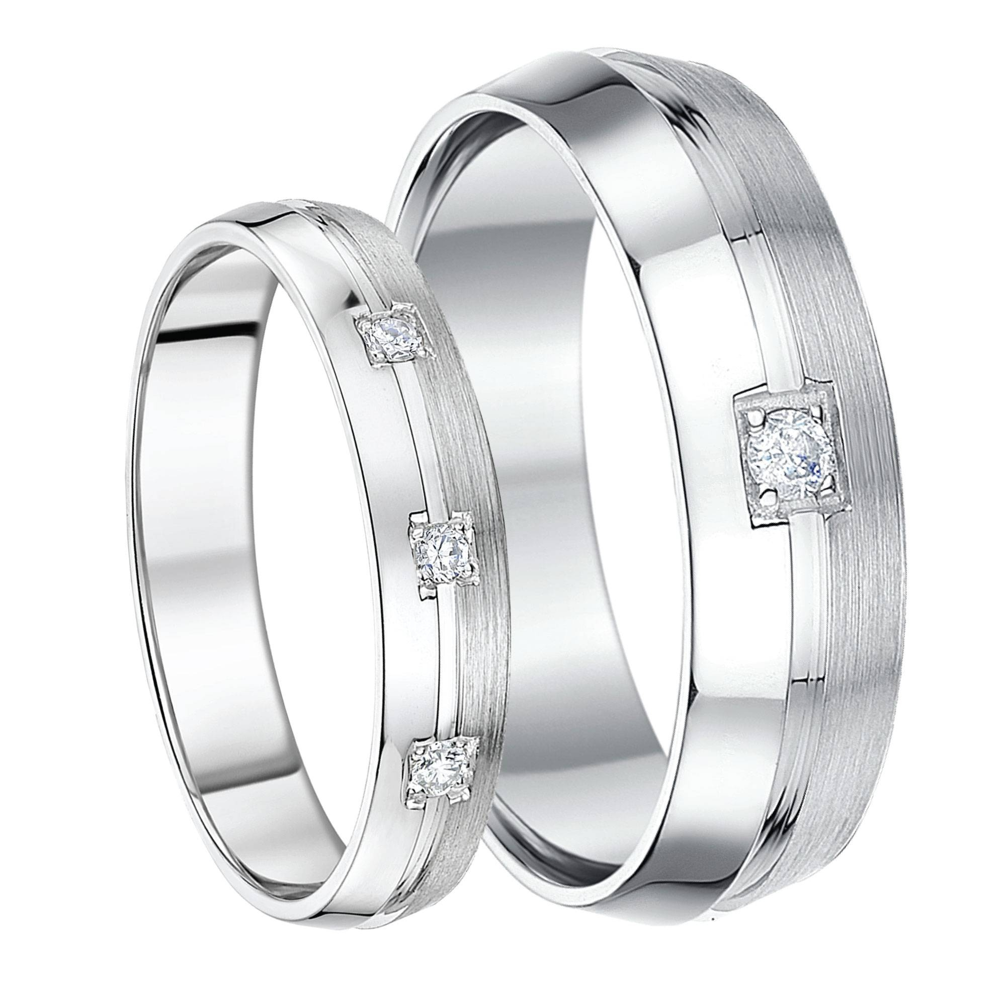 His & Hers White Gold Wedding Rings, Matching Sets For Groom And Bride Regarding White Gold Wedding Bands His And Hers (View 12 of 15)