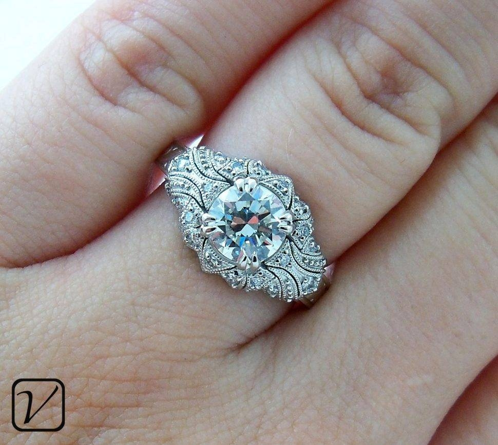 Horrible Unique Engagement Rings White Gold Tags : Modern Intended For Modern Vintage Wedding Rings (Gallery 4 of 15)