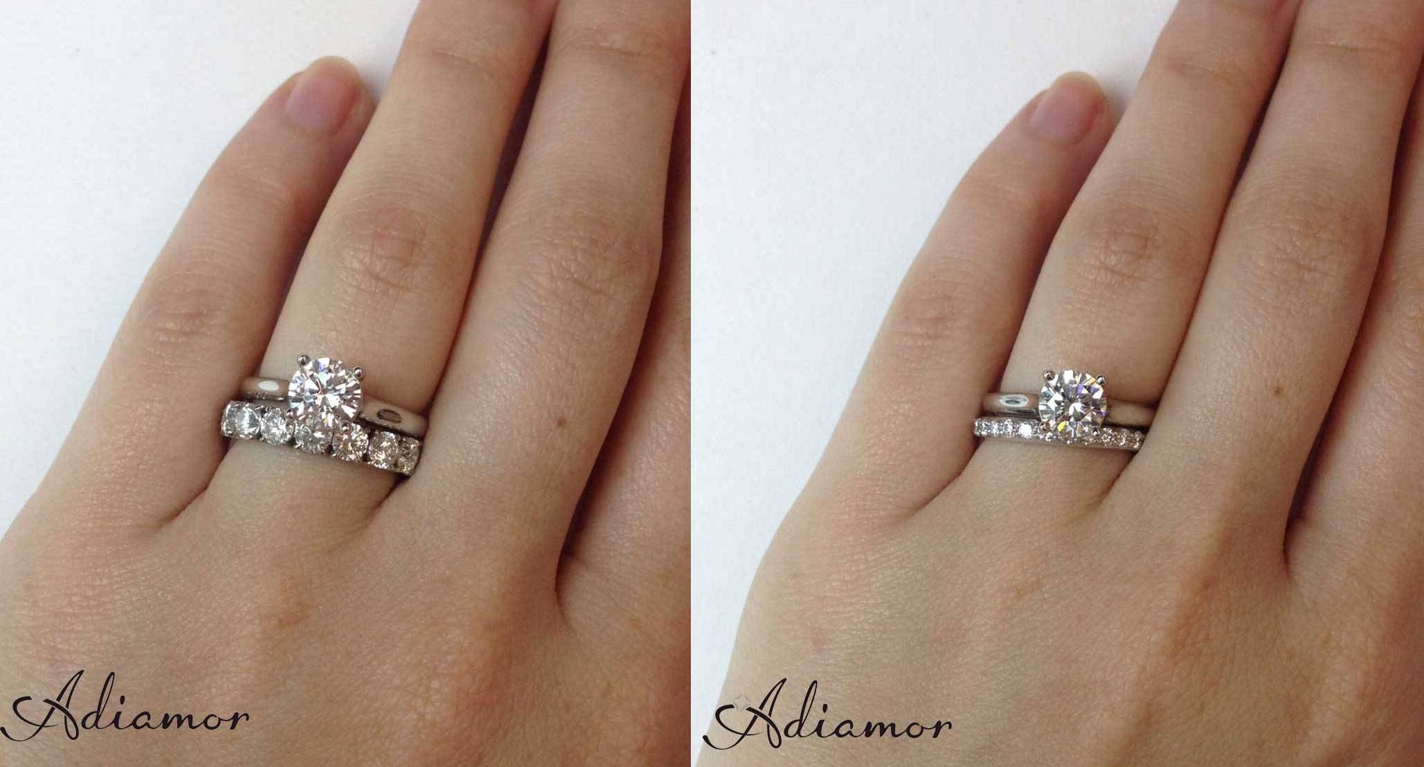 How Do People Like To Wear Wedding Bands? | Adiamor Within Engagement Rings With Wedding Bands (View 5 of 15)