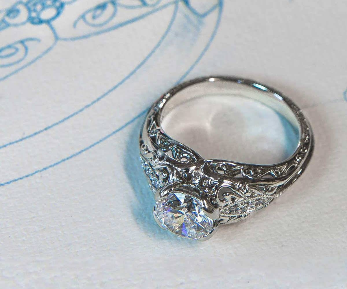 How To Design Your Own Unique Custom Engagement Ring For Custom Design Wedding Rings (View 9 of 15)