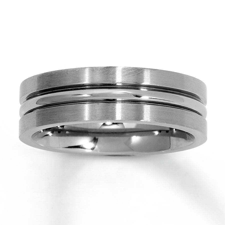 How To Determine Titanium Wedding Rings For Men Pertaining To Kay Jewelers Wedding Bands For Him (Gallery 10 of 15)