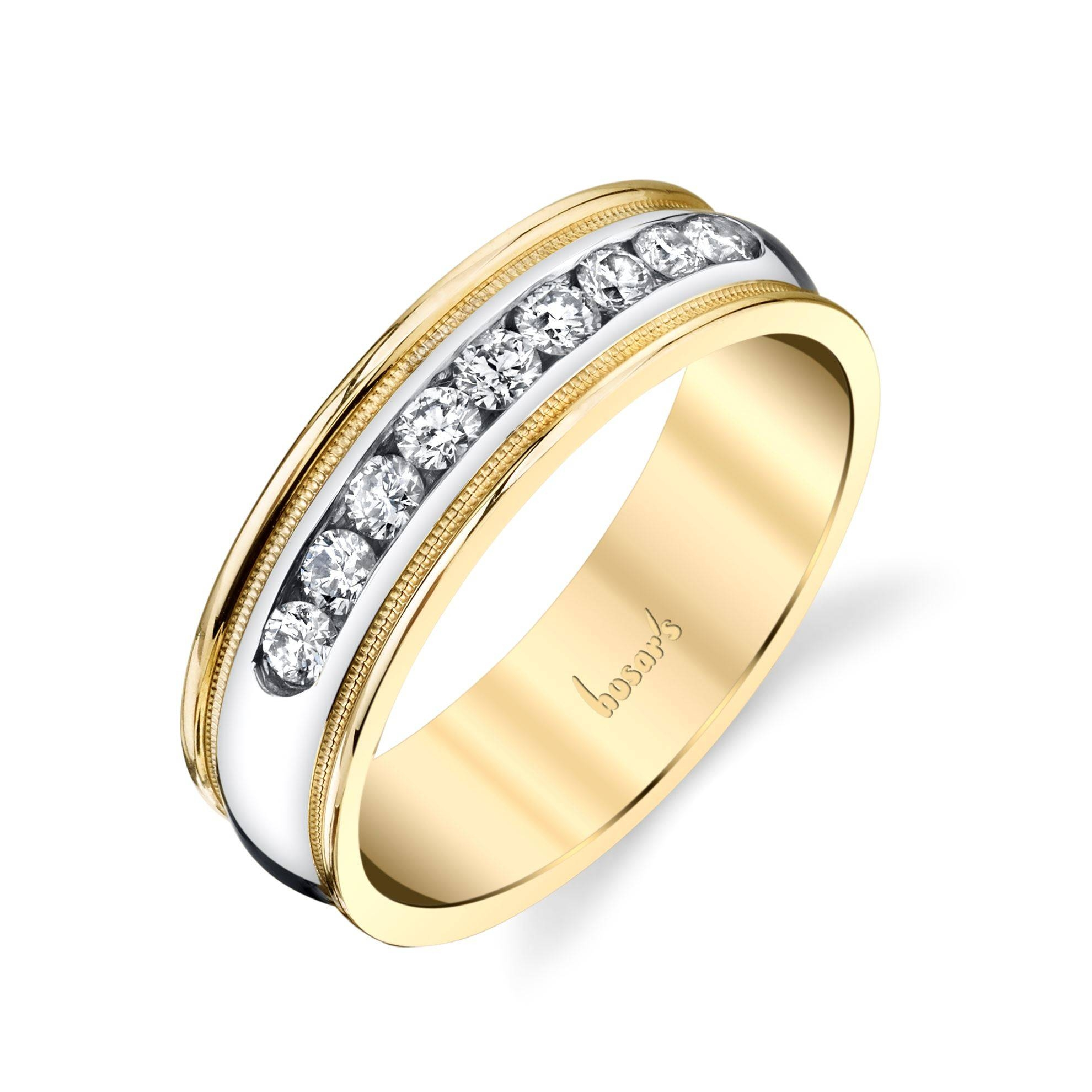 Husar's House Of Fine Diamonds. 14Kt White And Yellow Gold Men's In White And Yellow Gold Wedding Rings (Gallery 9 of 15)