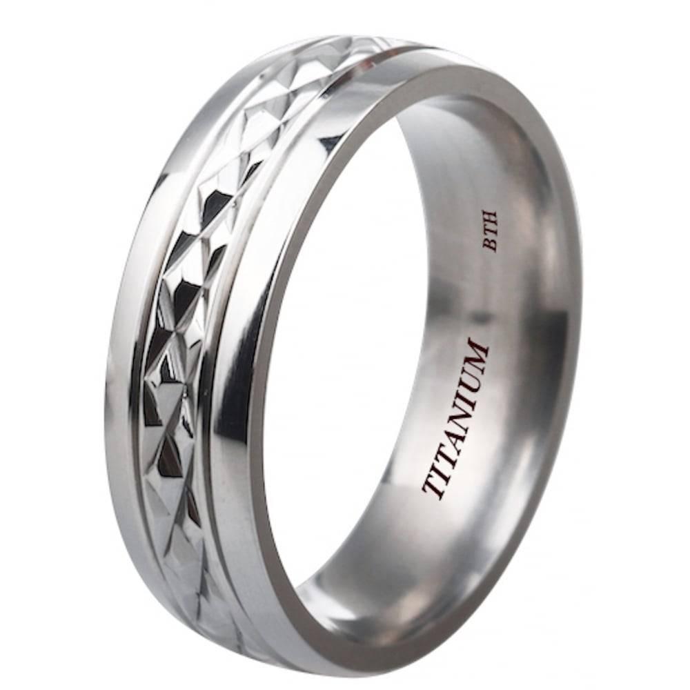 I Love You Unisex Titanium Wedding Engagement Comfort Band Ring With Engagement Rings Inside Wedding Band (View 8 of 15)