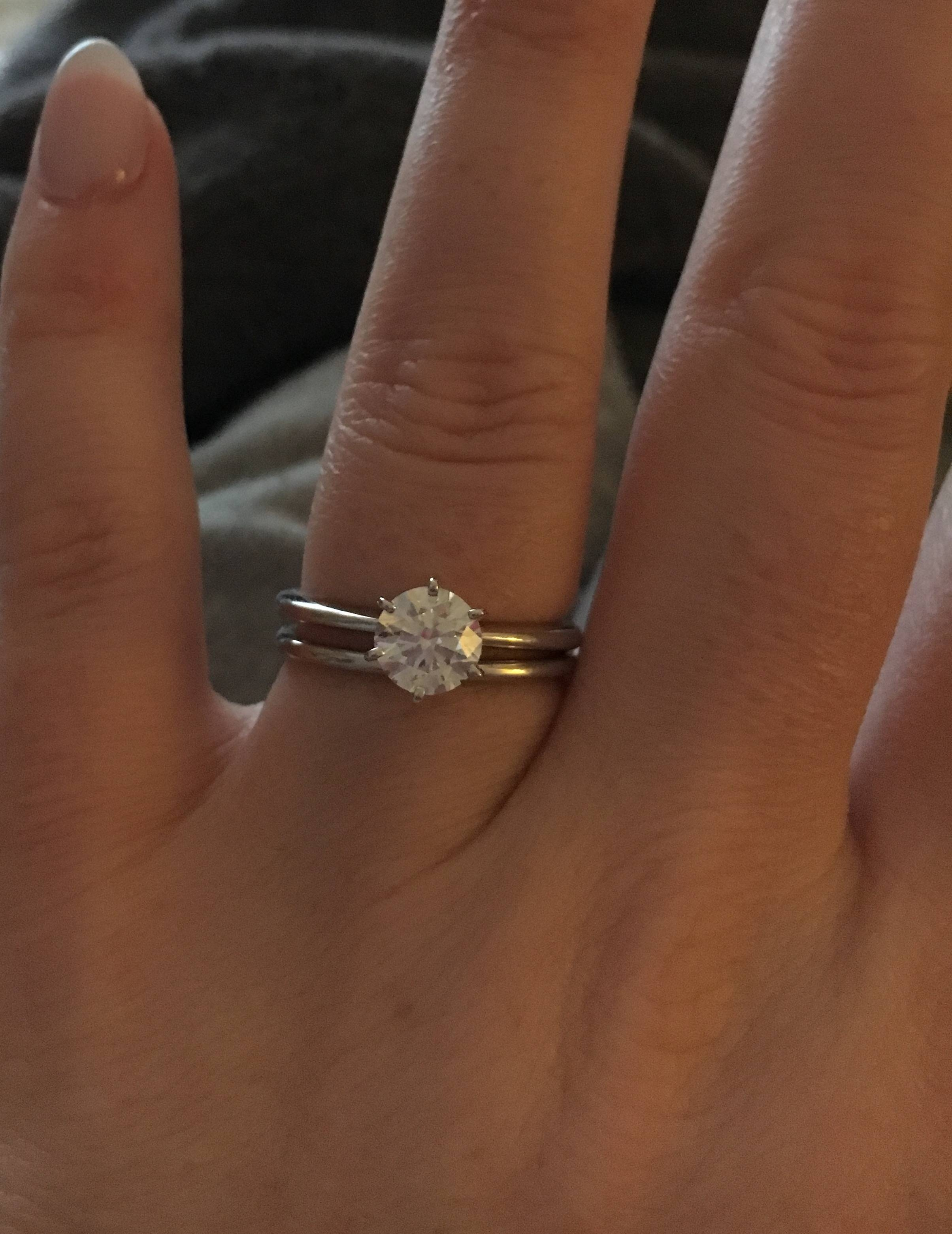 If Anyone Has A Less Than 2Mm Engagement Ring/ Wedding Band Show Pertaining To  (View 9 of 15)