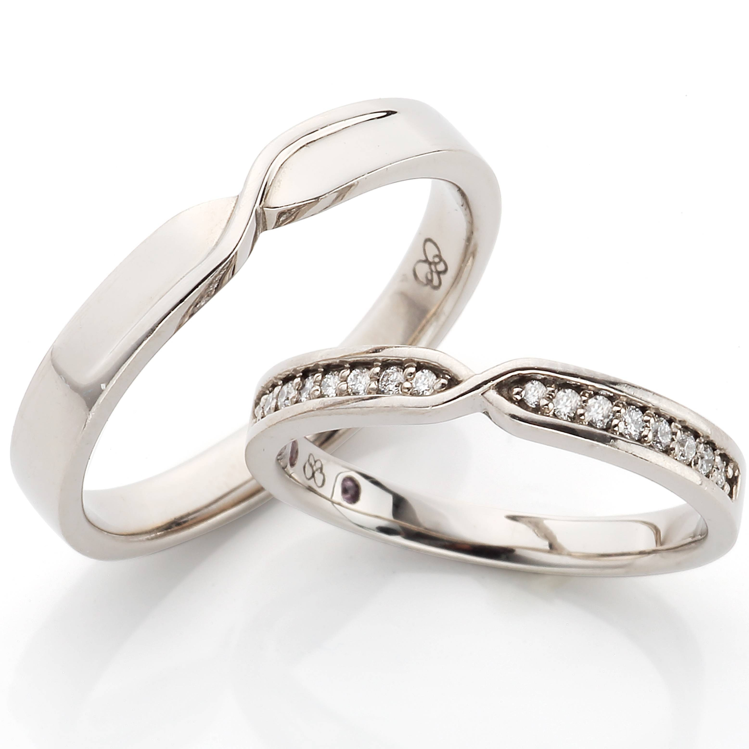 Infinity Design Venus Tears Wedding Band/engagement Ring Within Special Design Wedding Rings (View 2 of 15)