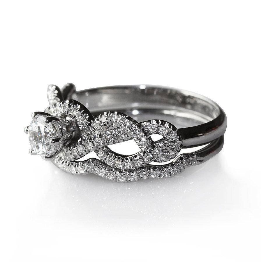 Featured Photo of Infinity Knot Engagement Rings