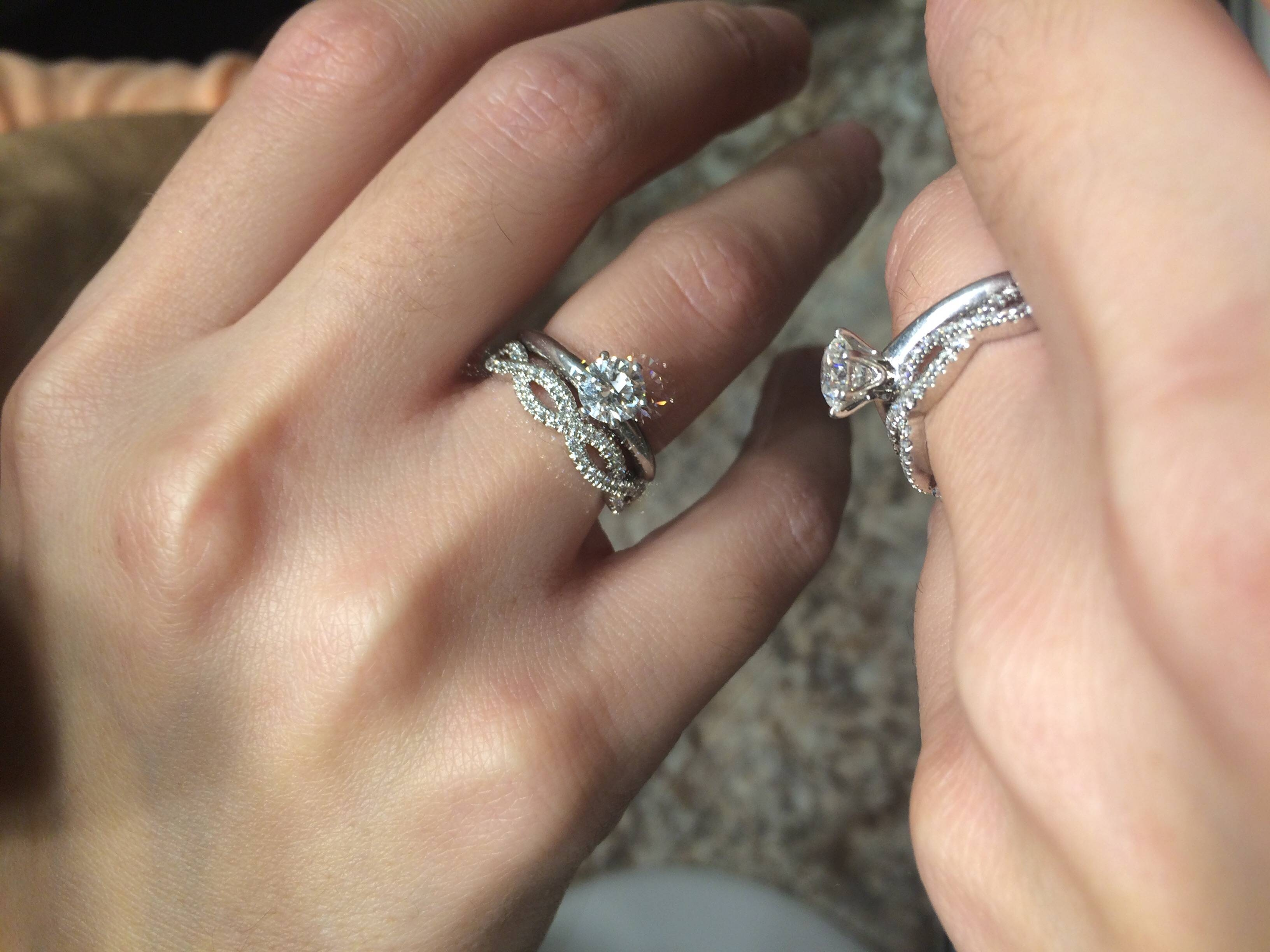 Infinity Wedding Band?! Help! – Weddingbee With Infinity Engagement Rings And Wedding Bands (View 8 of 15)