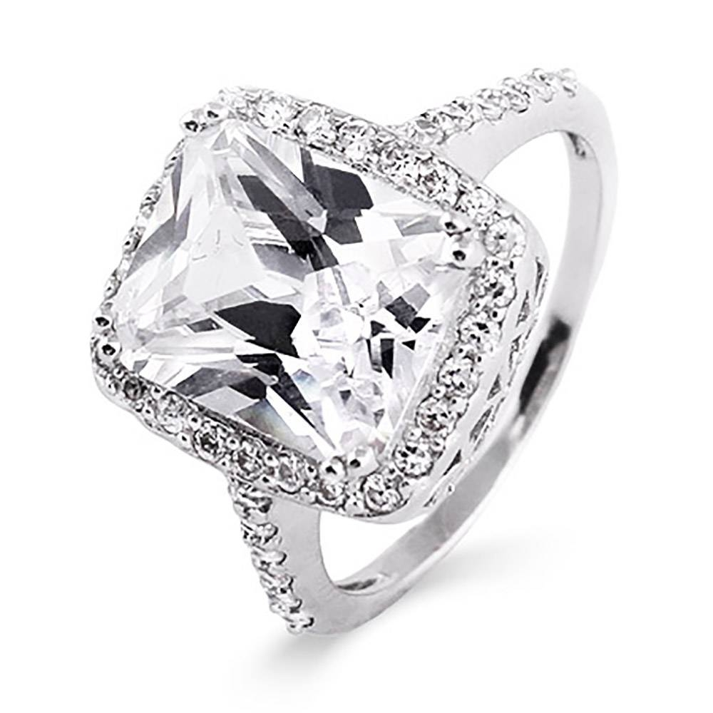 Inspired Diamond Cz Sterling Silver Engagement Ring | Eve's Addiction® Intended For Men's Cubic Zirconia Wedding Bands (View 7 of 15)