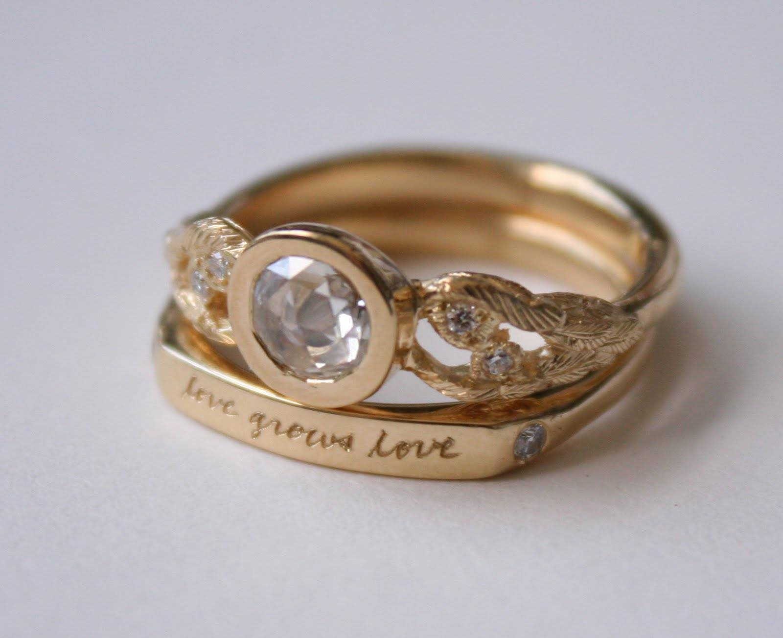 Photo Gallery of Unusual Wedding Rings Designs Viewing 3 of 15 Photos