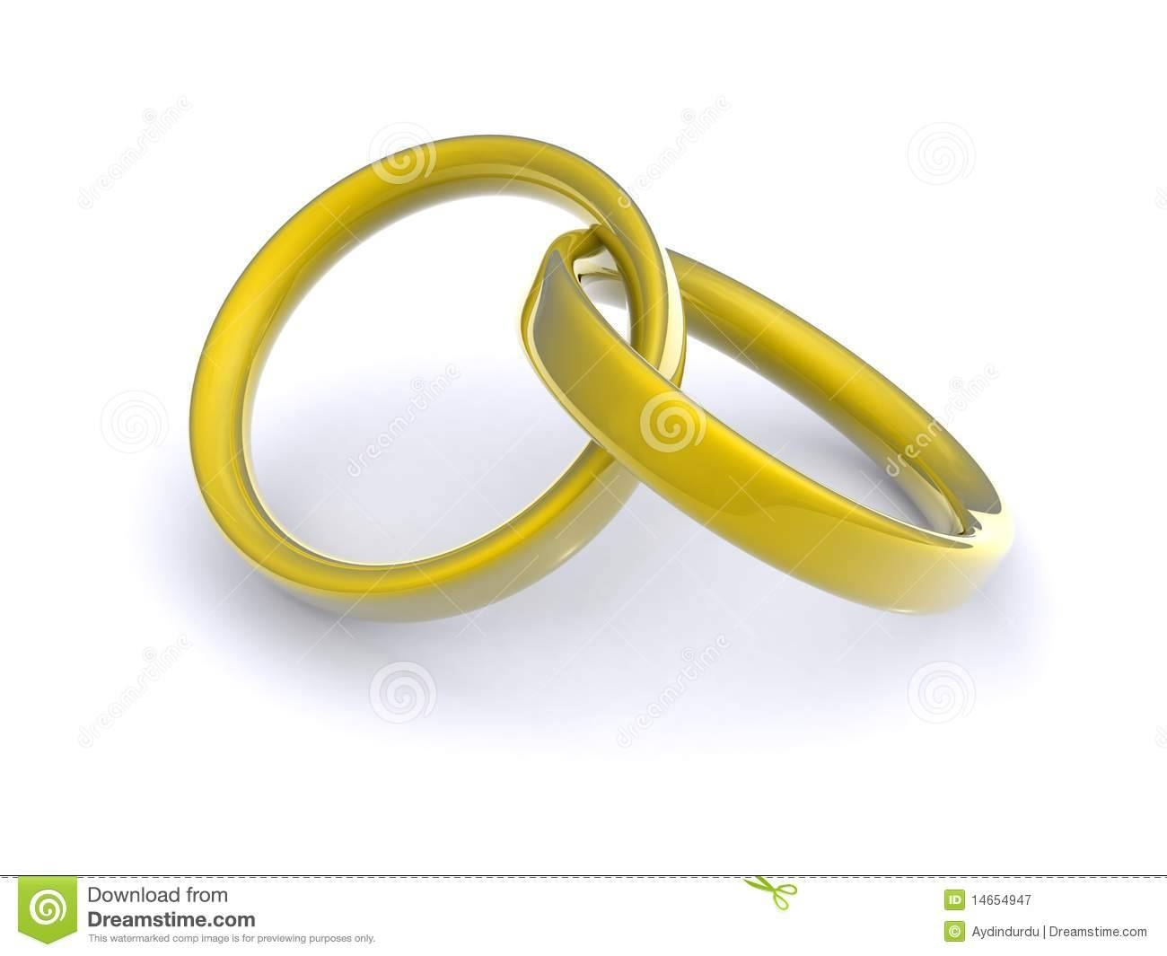 interlocking wedding rings stock photo image 13389060 pertaining to interlocking wedding bands gallery - Interlocking Wedding Rings