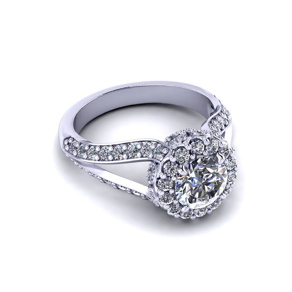 Intricate Round Halo Engagement Ring – Jewelry Designs With Regard To Intricate Engagement Rings (View 11 of 15)