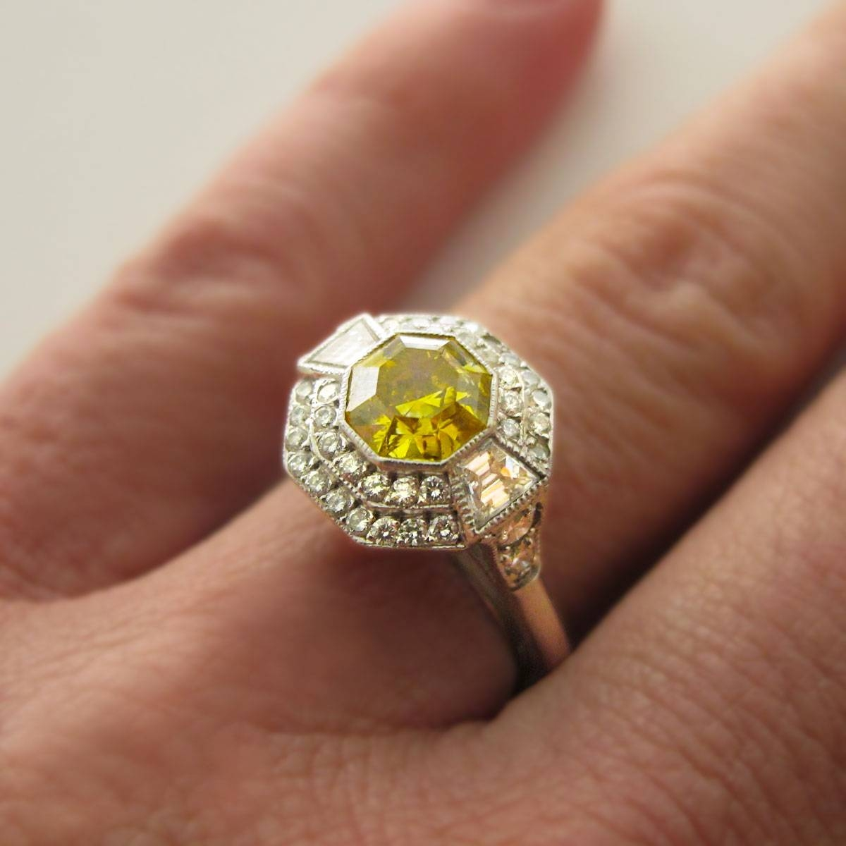 Intrigue Yellow Diamond Engagement Ring Ireland Tags : Yellow For Vintage Engagement Rings Northern Ireland (View 8 of 15)