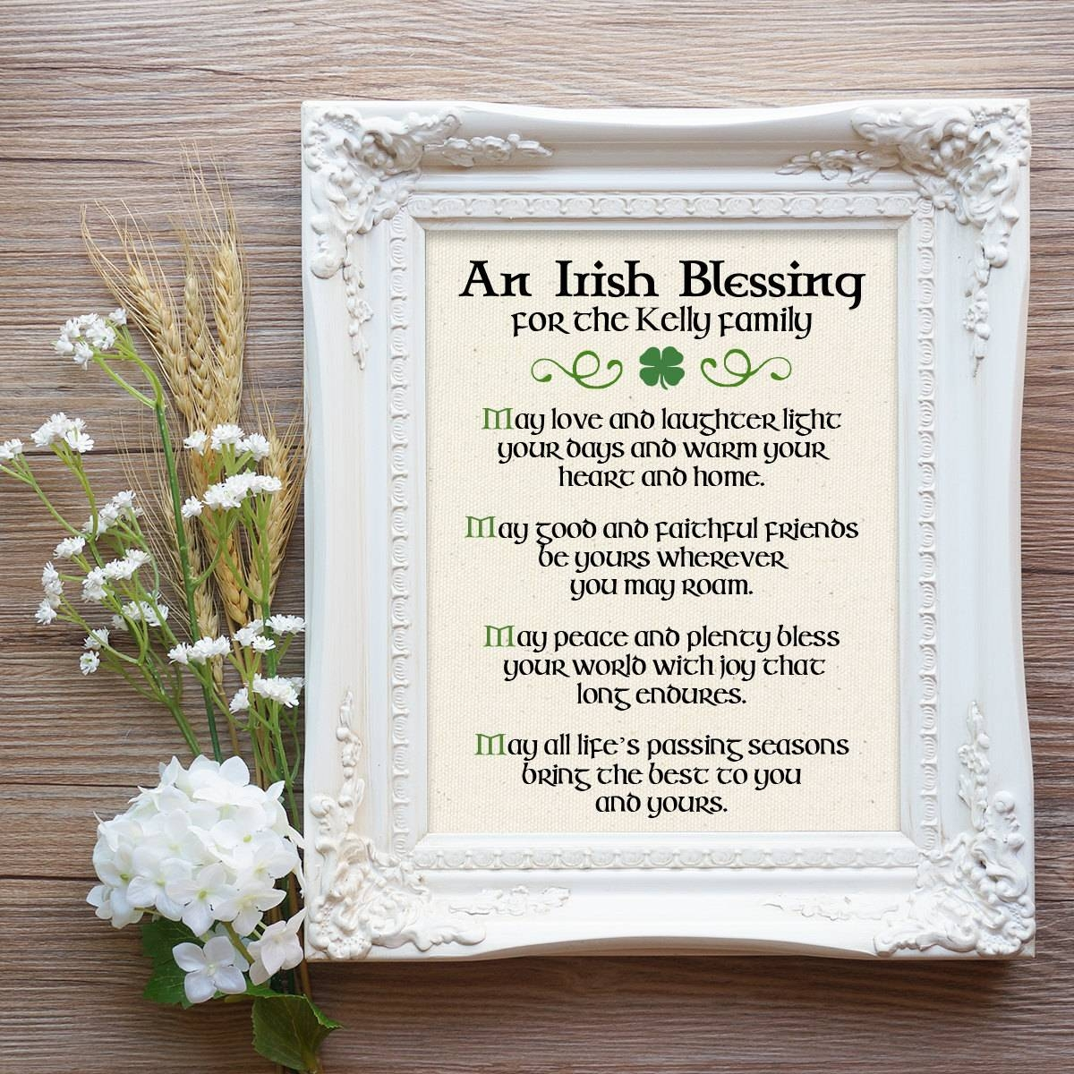 Irish Blessing Print Irish Couple Gift Irish Prayer Irish With Irish Engagement Gifts (View 4 of 15)