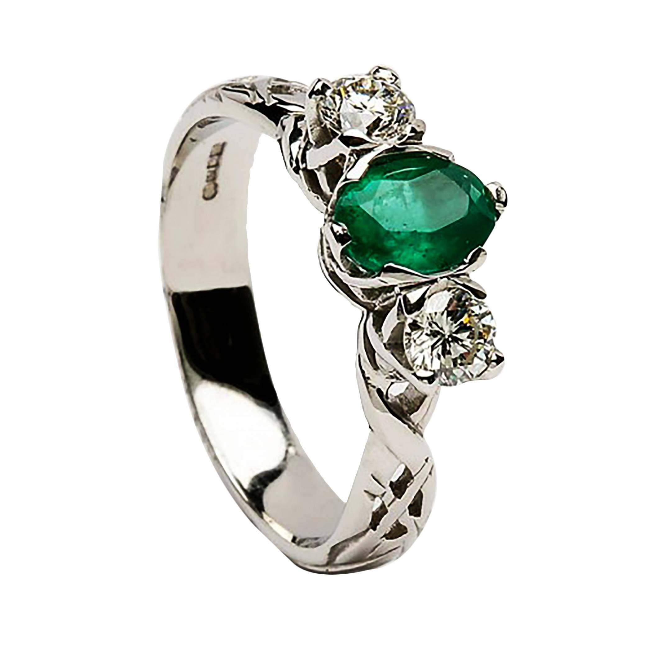 Irish Celtic Engagement Rings | Diamond Rings | Silver Rings With Emerald Celtic Engagement Rings (View 7 of 15)