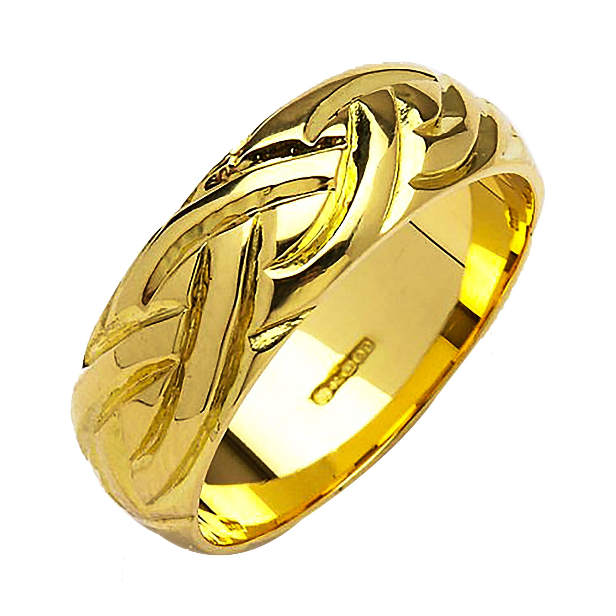 Irish Gold Wedding Ring – Livia – 18K Gold In 18K Gold Wedding Rings (View 9 of 15)