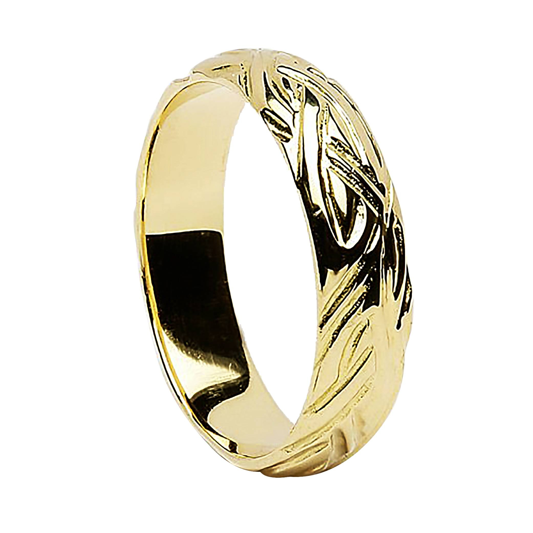 Irish Gold Wedding Ring – Livia – 18K Gold Throughout 18K Gold Wedding Rings (View 11 of 15)