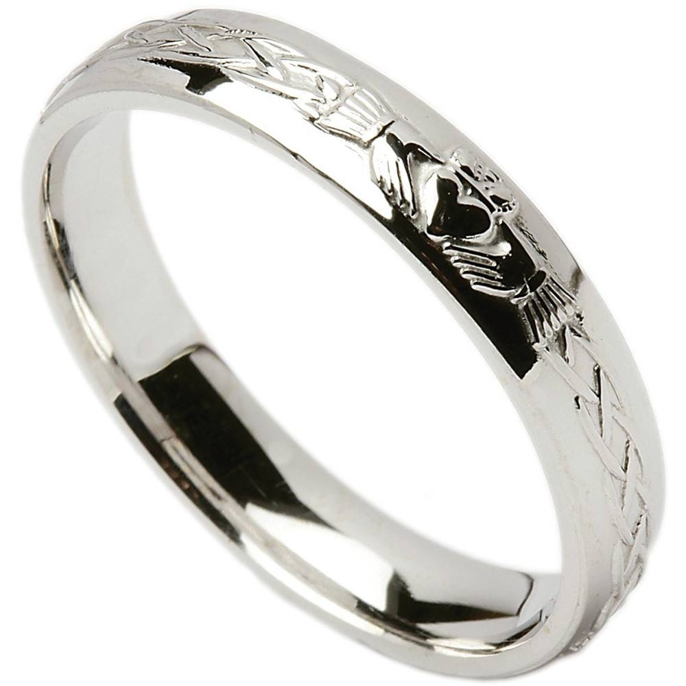 Irish Wedding Ring – Celtic Knot Claddagh Ladies Wedding Band At With Regard To Claddagh Mens Wedding Bands (View 9 of 15)
