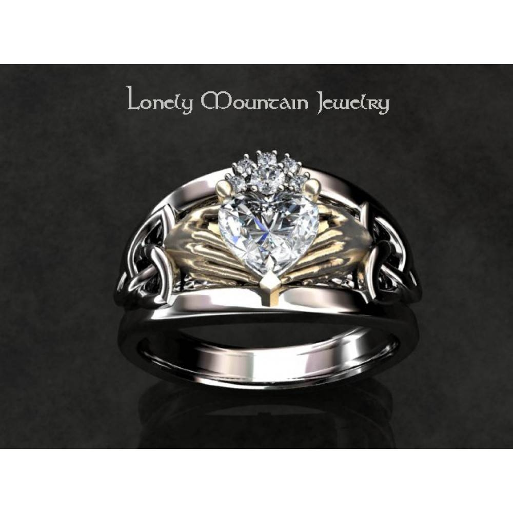 Irish Wedding Ring Custom Setting (Without Center) For Custom Claddagh Engagement Rings (Gallery 2 of 15)