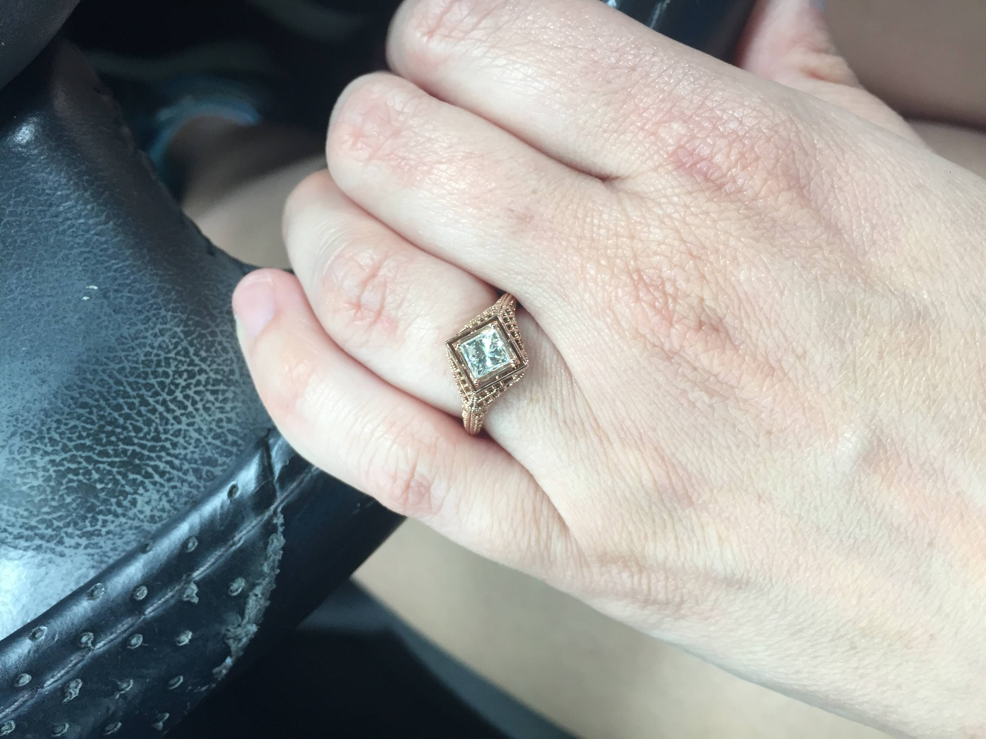 Is My Engagement Ring Ugly? – Weddingbee With Weddingbee Engagement Rings (View 6 of 15)