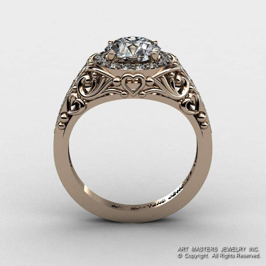 Italian 14K Rose Gold  (View 8 of 15)