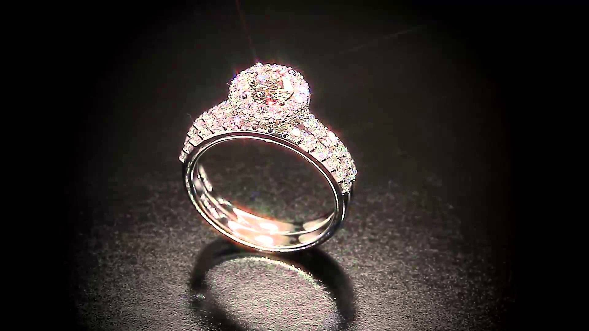"Jackie"" Round Diamond Platinum Engagement Ring – Youtube For Costco Diamond Wedding Bands (View 10 of 15)"