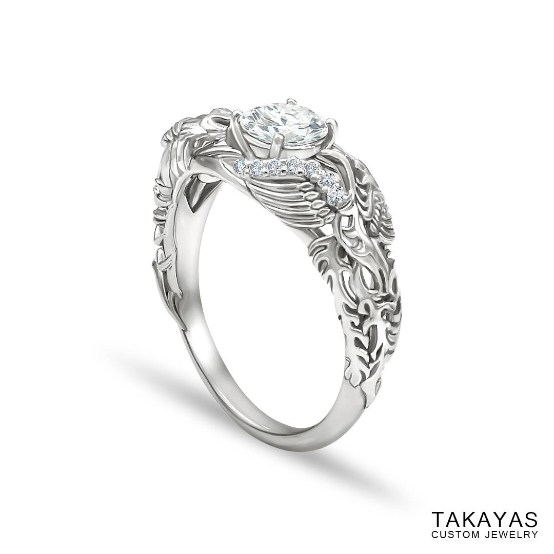 Japanese Love Story Wedding Set — Takayas Custom Jewelry Inside Red String Of Fate Wedding Rings (View 3 of 15)