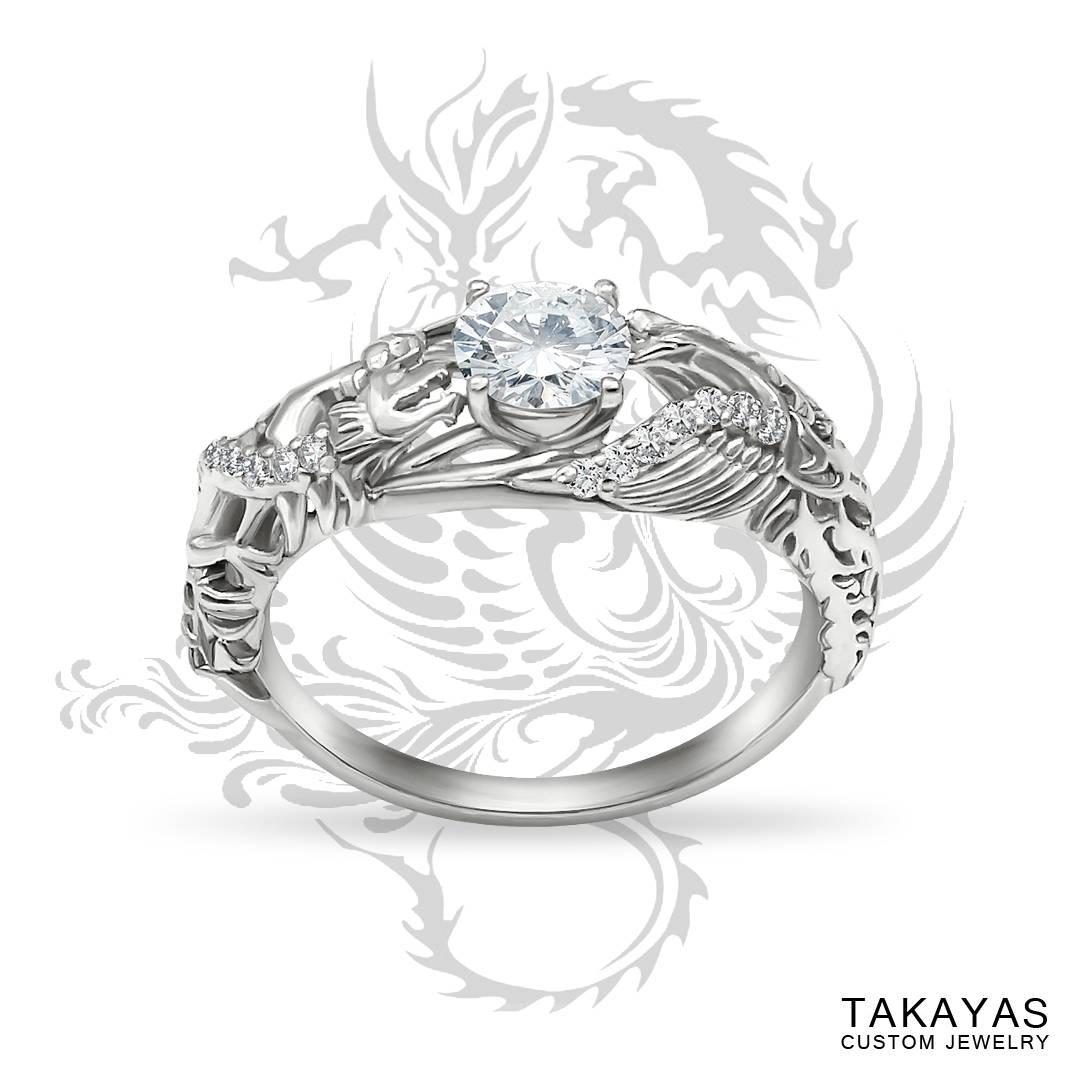 Japanese Love Story Wedding Set — Takayas Custom Jewelry Intended For Love Story Wedding Rings (View 5 of 15)