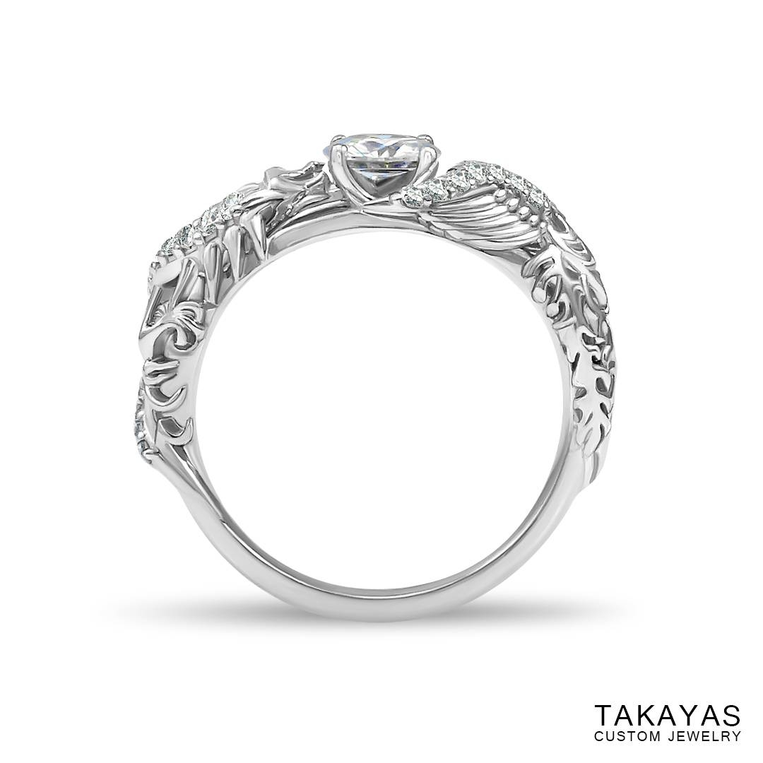 Japanese Love Story Wedding Set — Takayas Custom Jewelry Regarding Red String Of Fate Wedding Rings (View 5 of 15)