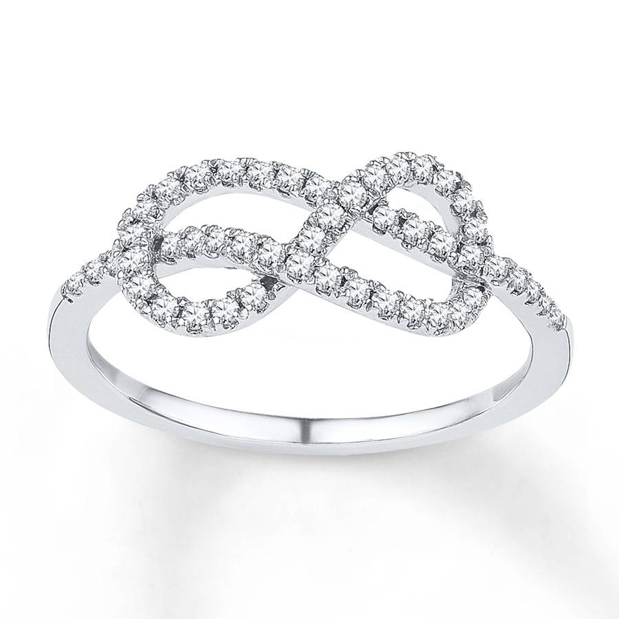 Jared – Diamond Infinity Ring 1/4 Ct Tw Round Cut Sterling Silver For Infinity Knot Engagement Rings (View 8 of 15)