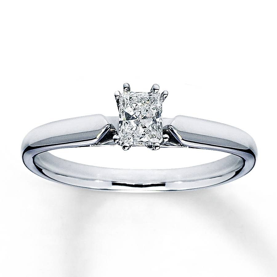 Jared – Diamond Solitaire Ring 1/3 Carat Radiant Cut 14K White Gold Throughout Jared Solitaire Engagement Rings (Gallery 13 of 15)