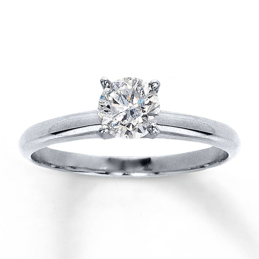 Jared – Diamond Solitaire Ring 3/4 Carat Round Cut 14K White Gold Within Jared Solitaire Engagement Rings (View 11 of 15)