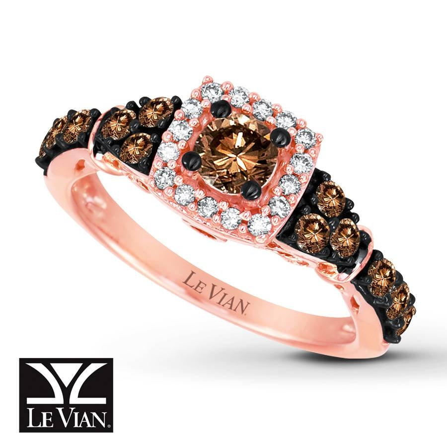 Jared – Le Vian Chocolate Diamonds 7/8 Ct Tw Ring 14K Strawberry Gold For Strawberry Gold Wedding Rings (Gallery 12 of 15)
