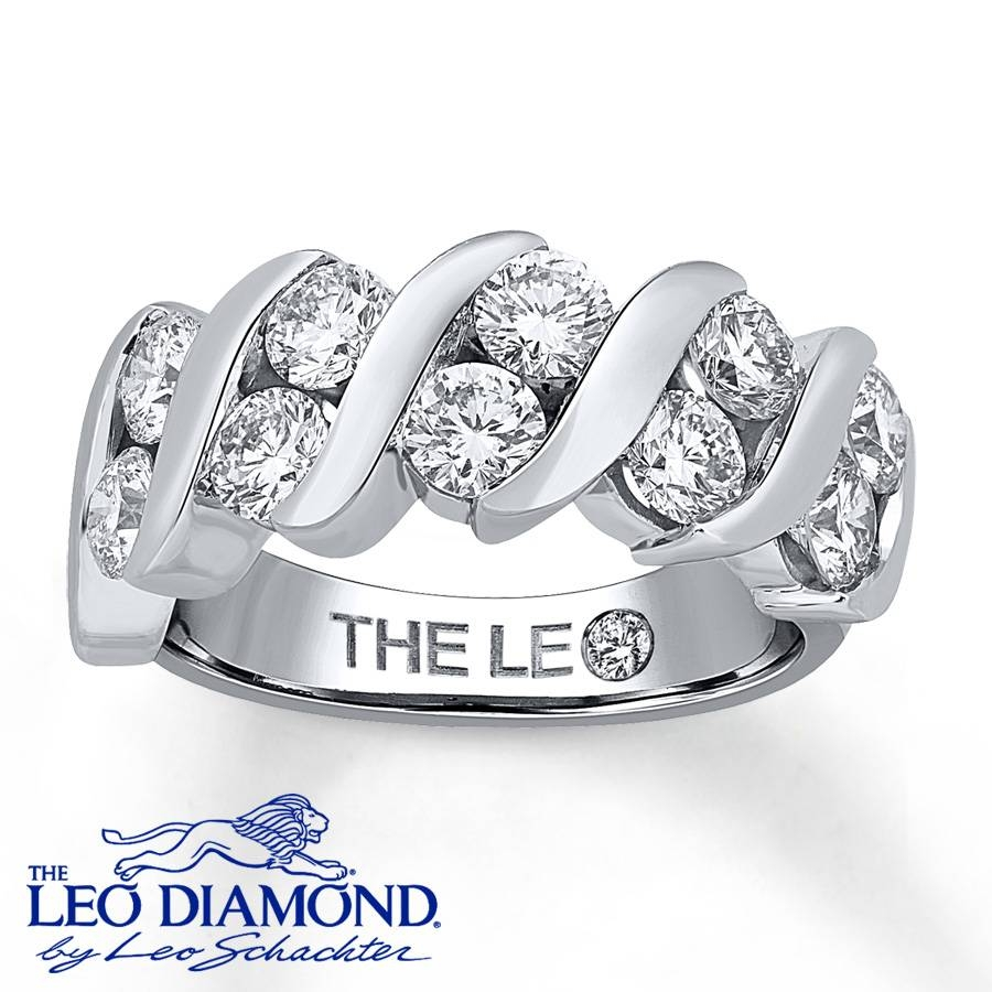 Jared – Leo Anniversary Ring 2 Ct Tw Diamonds 14K White Gold With Leo Diamond Wedding Bands (View 8 of 15)
