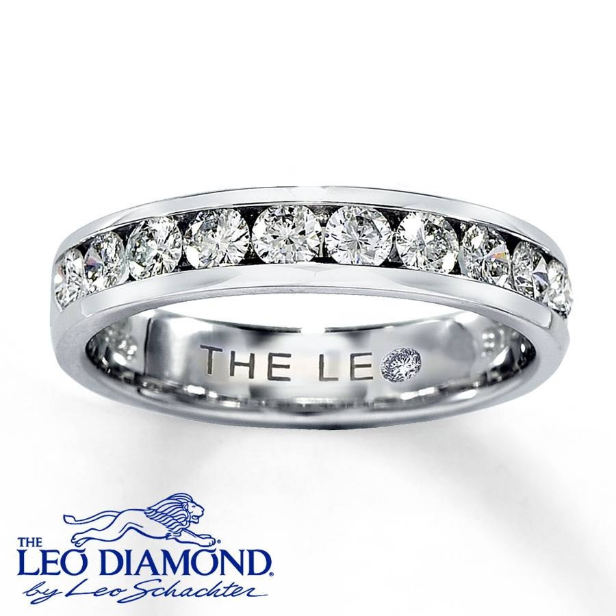 Jared – Leo Diamond Band 5/8 Ct Tw Round Cut 18K White Gold With Regard To Leo Diamonds Engagement Rings (View 5 of 15)