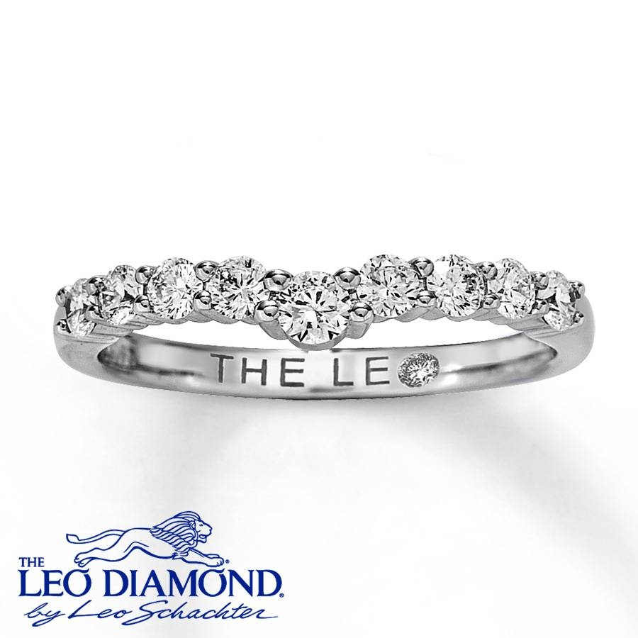 Jared – Leo Diamond Enhancer Ring 1/2 Ct Tw Round Cut 14K White Gold For Leo Diamonds Engagement Rings (View 6 of 15)