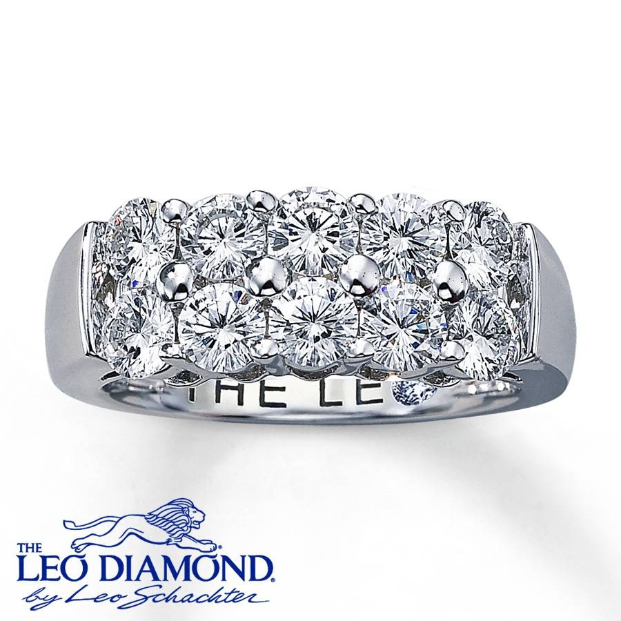 Jared – Leo Diamonds 1 3/4 Ct Tw Round Cut 18K Gold Anniversary Band Inside Leo Diamond Wedding Bands (Gallery 8 of 15)
