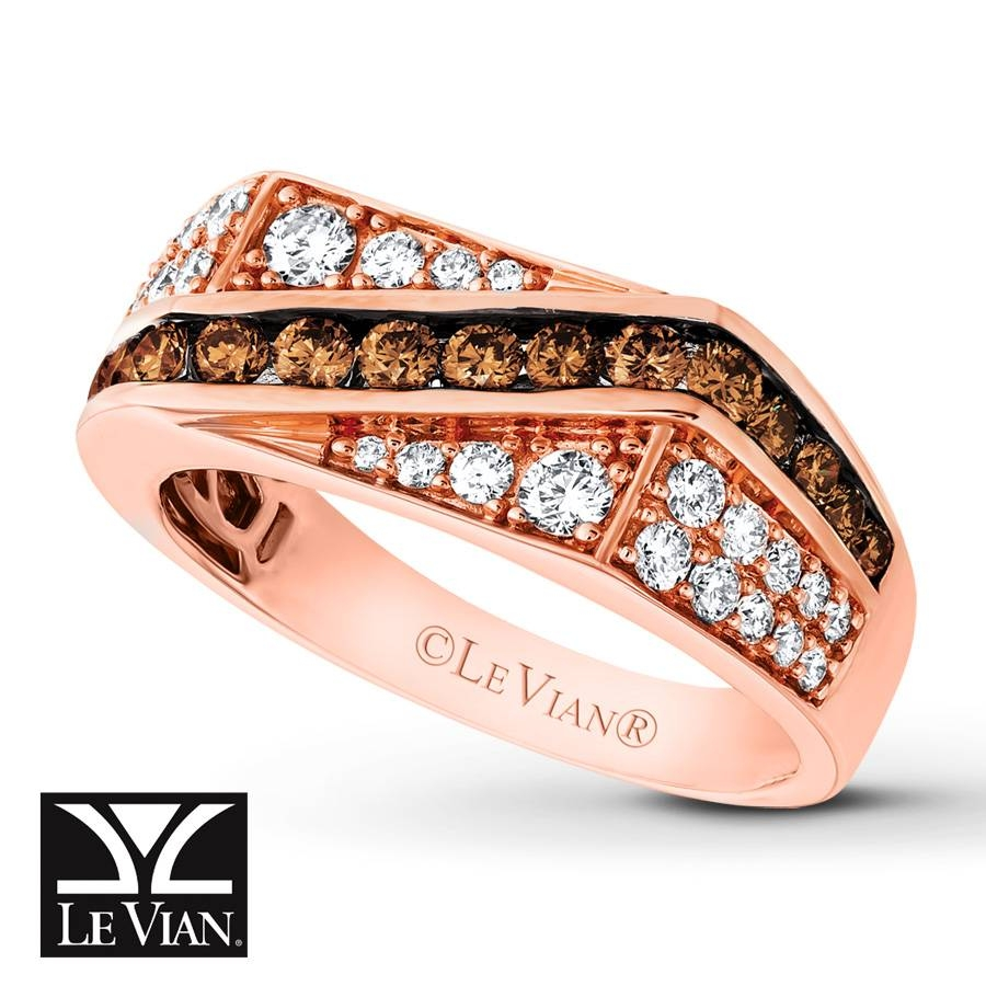 Jared – Levian Chocolate Diamonds 1 1/3 Cttw Men's Band 14k Gold With Regard To Le Vian Wedding Bands (View 7 of 15)