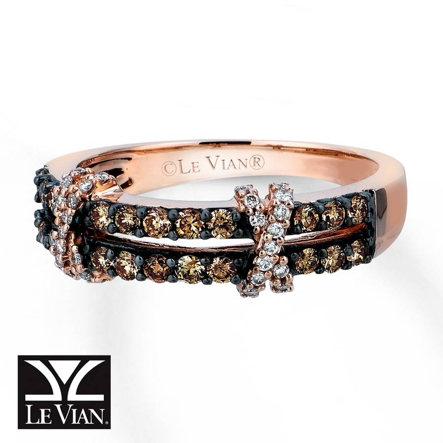 Jared – Levian Chocolate Diamonds 1/2 Ct Tw Ring 14k Strawberry Gold In Le Vian Wedding Bands (View 6 of 15)